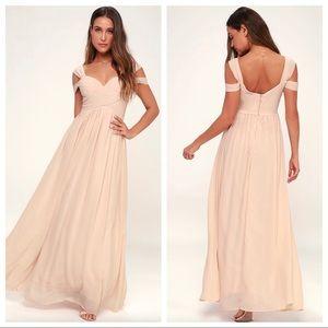 Lulu's Make Me Move Blush Maxi Dress